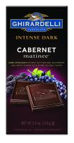 Ghirardelli Intense Dark Cabernet Matinee Chocolate bar, 3.5 oz (Pack of 12)