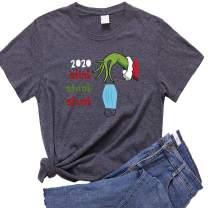 Women 2020 Stink Stank Stunk Mask-Throw T-Shirt Christmas Sweatshirt Funny Quarantine Graphic Short Sleeve Tee Top