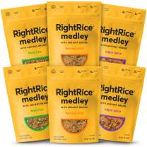 RightRice Medley Variety Pack (7oz. Pack of 6) - Made from Vegetables – Ancient Grains and More Veggies, Vegan, non GMO, Gluten Free