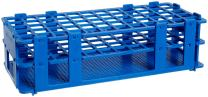 Bel-Art F18747-0001 No-Wire Test Tube Rack; 13-16mm, 60 Places, 9.7 x 4.1 x 2.5 in., Polypropylene, Blue