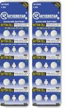 Rayverstar LR44 AG13 1.5 Volt Alkaline (20-Batteries) Fits: A76, GPA76, L1154F, L1154, 357A, 157, 303, 357, SR44, SR44SW, EPX76, PX76, PX76A, Hexbug (Full List Below)