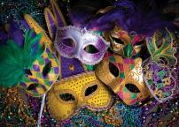 SJOLOON 8X6ft Mardi Gras Backdrop Carnival Masquerade Photography Backgrounds Mask Colorful Backdrop Party Decoration Banner Studio Props 11079