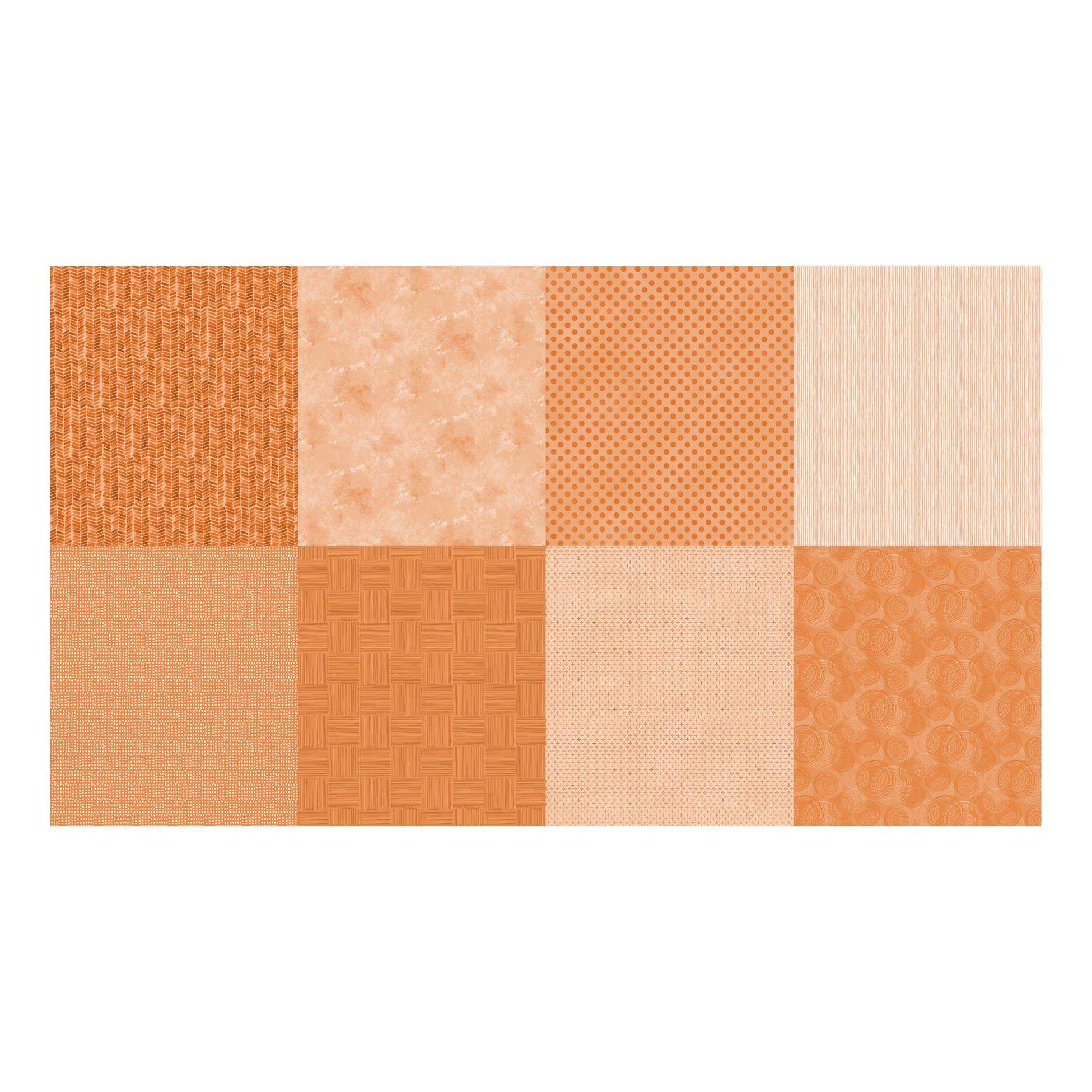 Hoffman Fabrics Digital Details Blender 90'' Panel Fabric, Tangerine