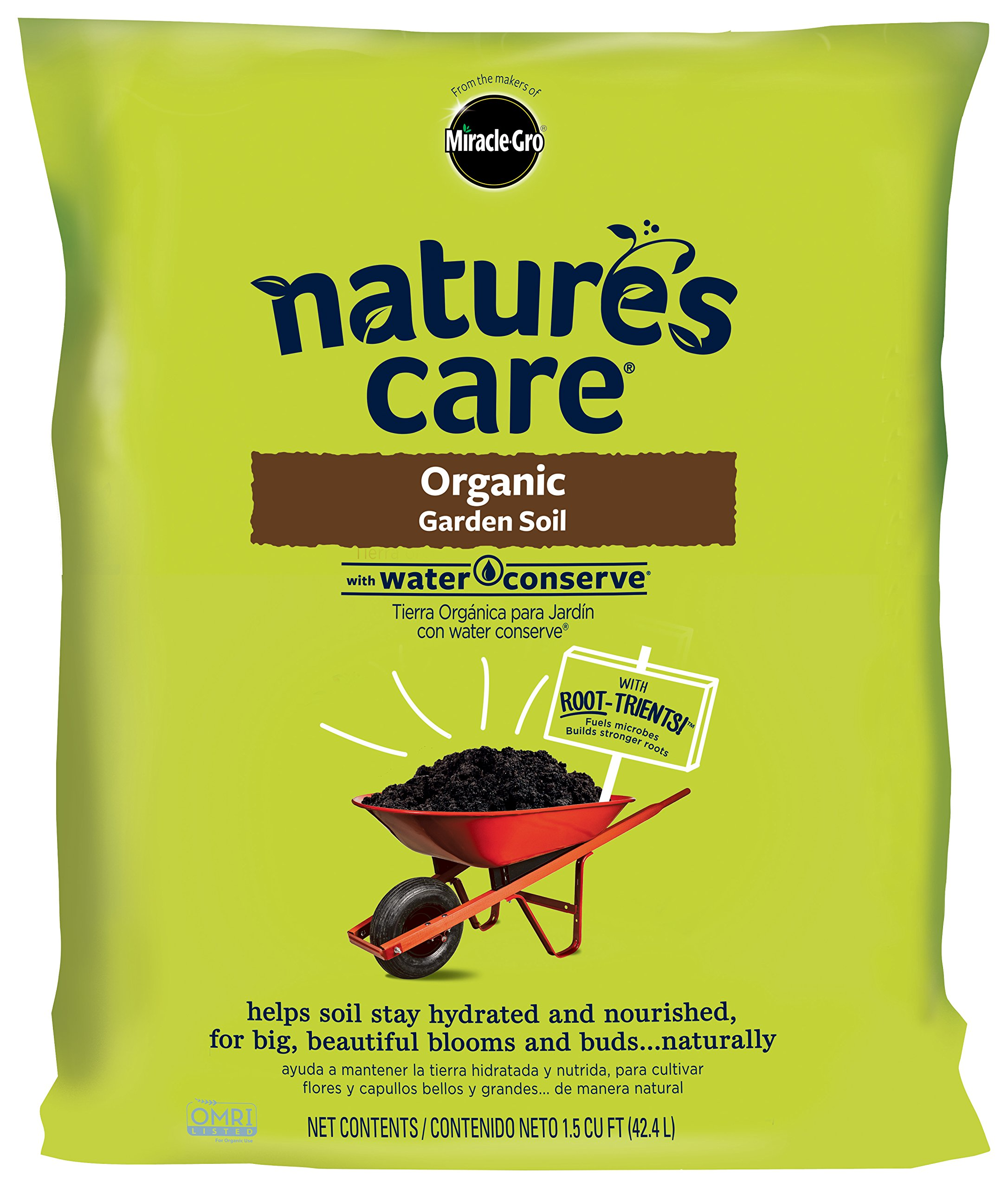 Miracle-Gro Nature's Care Organic Garden Soil with Water Conserve, 1.5 cu. ft.