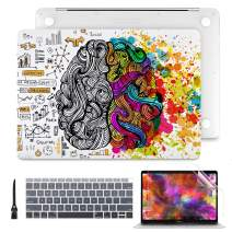 Batianda MacBook Air 13 Inch Case 2020 2019 2018 Release A2179 A1932 with Touch ID Retina Display Floral Series Flosted Clear Hard Shell Cover with Keyboard Cover Screen Protector, Innovative Brain