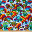 Timeless Treasures 0512486 Hot Air Balloons Sky Fabric by the Yard