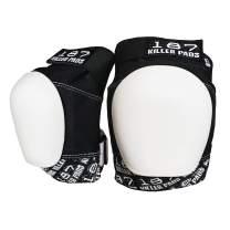 187 Killer Pads Pro Knee Pad, Black/White,