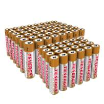 Combo 48xAA 24xAAA Tenergy 1.5V Alkaline Batteries, High Performance AA/AAA Non-Rechargeable Battery for Clocks, Remotes, Toys & Electronic Devices, Household Batteries