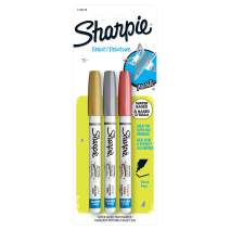 SHARPIE Water-Based Glitter Paint Marker, 3-Count, Metallic Assorted, 3 Count