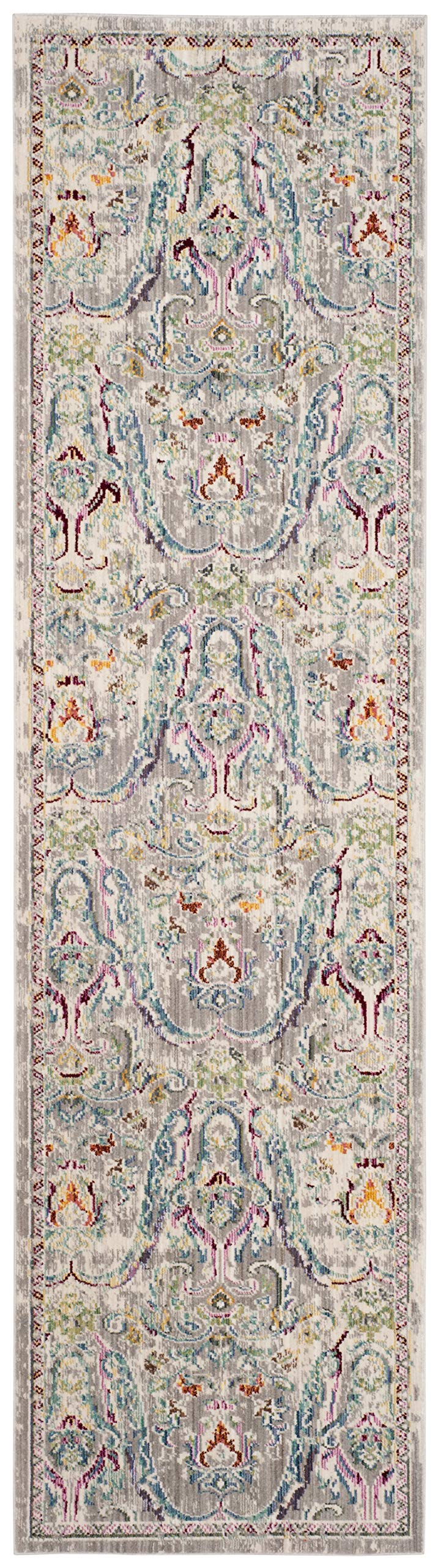 """Safavieh Mystique Collection MYS925L Vintage Watercolor Grey and Light Blue Distressed Runner (2'3"""" x 8')"""