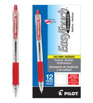 PILOT EasyTouch Refillable & Retractable Ballpoint Pens, Medium Point, Red Ink, 12 Count (32222)