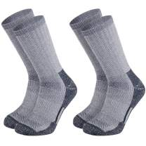 Merino Wool Hiking and Trekking Socks For Outdoor Athletic Exercise Hunting Fall Winter Warm Breathable, Men's,2 Pack