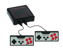 Lexibook Retro game console, 2 controllers, 300 games, 1 AC/DC adapter, black/red, JG7800