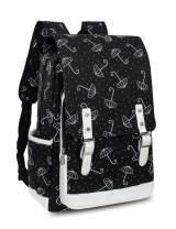 Leaper Cute Umbrella Laptop Backpack Travel Bag School Bag Satchel Black L