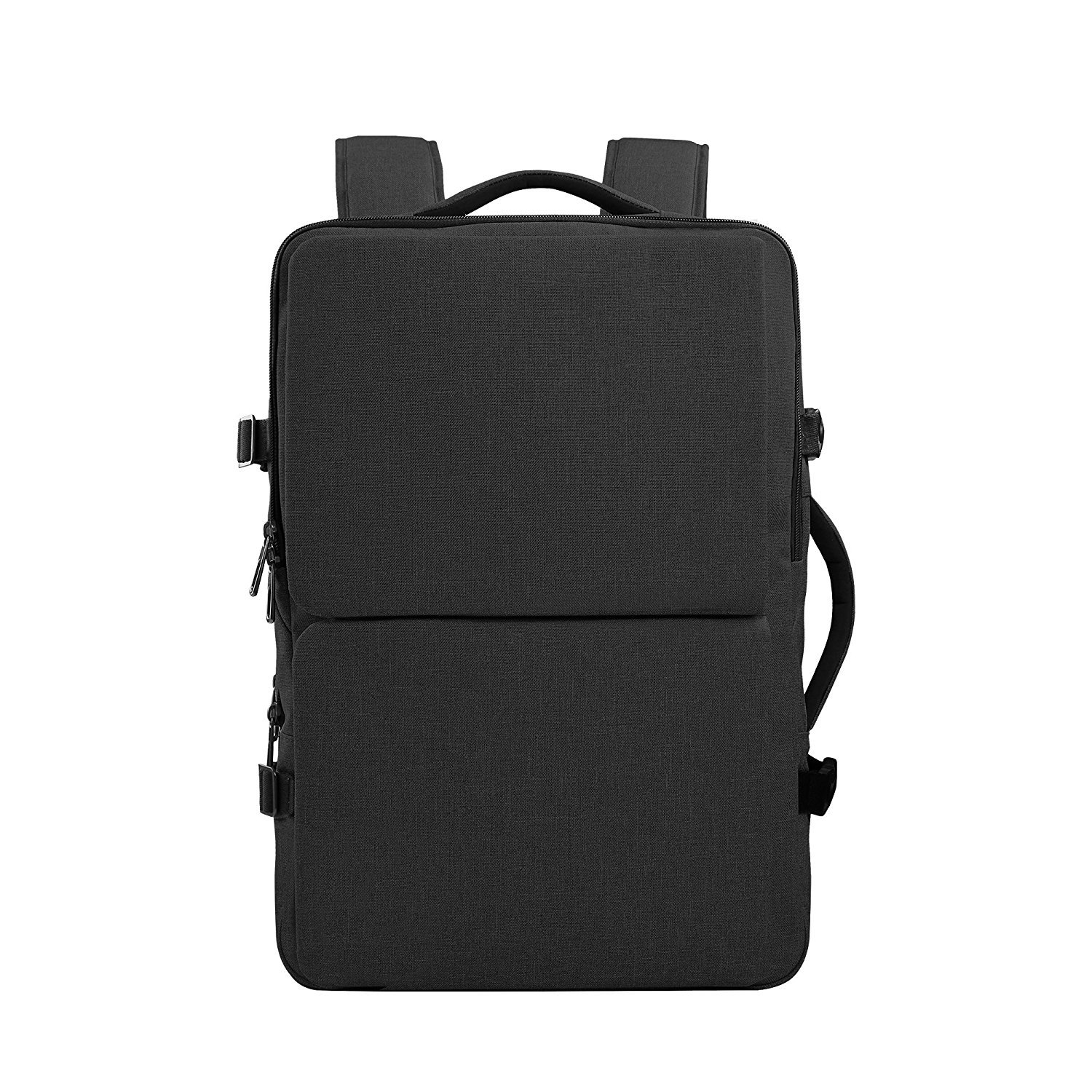 Cai Unisex College Bag, Large Travel Laptop Backpack 15 Inch 17 Inch Computer Water Resistant Rucksack (17, Black)