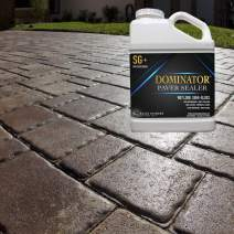 1 Gallon DOMINATOR SG+ High Gloss Paver Sealer and Decorative Concrete (Wet Look) – Solvent Free, Twice The Coverage Rate (up to 400 sq ft)