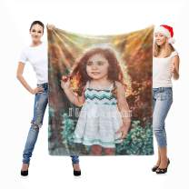 Custom Blanket with Picture Personalized Throw Photo Printing Blanket for Pets Family Friend as Souvenirs Birthday Gifts and Wedding Gifts,32x48inch
