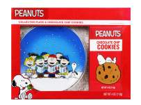 Thoughtfully Gifts, Peanuts Collector's Plate Gift Set, Includes Peanuts Collector's Plate and Box of Chocolate Chip Cookies