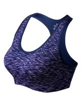 Match Women Wirefree Seamless Double Layer Padded Racerback Sports Bra for Yoga Workout Gym Activewear #004