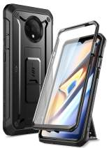 SUPCASE [Unicorn Beetle Pro Series] Case Designed for OnePlus 7T, Built-in Screen Protector Full-Body Rugged Holster Case for One Plus 7T (Black)