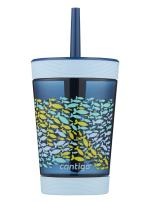 Contigo Kids Tumbler with Straw   Spill-Proof Tumbler with Straw for Kids, 14oz, Nautical Blue