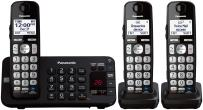 Panasonic KX-TGE243B DECT 6.0 Expandable Digital Cordless Answering System, 3 Handsets,Black