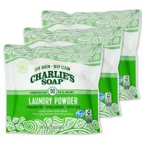 Charlie's Soap Laundry Powder (50 Loads, 3 Pack) Hypoallergenic Deep Cleaning Washing Powder Detergent – Eco-Friendly, Safe, and Effective