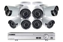 Lorex Weatherproof Indoor/Outdoor Home Surveillance Security System, 1080p HD Wired Bullet Cameras with Long Range Night Vision (8 Pack) – Includes 8 Channel 4K DVR w/ 2 TB Storage Hard Drive