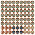 Fresh Roasted Coffee LLC, Organic Sampler Coffee Pod Variety Pack, USDA Organic, Compatible with 1.0 / 2.0 Single-Serve Brewers, 12 Varieties, 72 Count