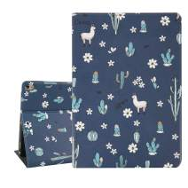 Hi Space Llama iPad Air 10.5 Case 2019, Cactus Alpaca iPad Pro Case 10.5, Lightweight Slim Folio Stand Hard Shell Smart Case Cover Auto Sleep Wakeup A2123 A2152 A2153 A2154 A1701 A1709