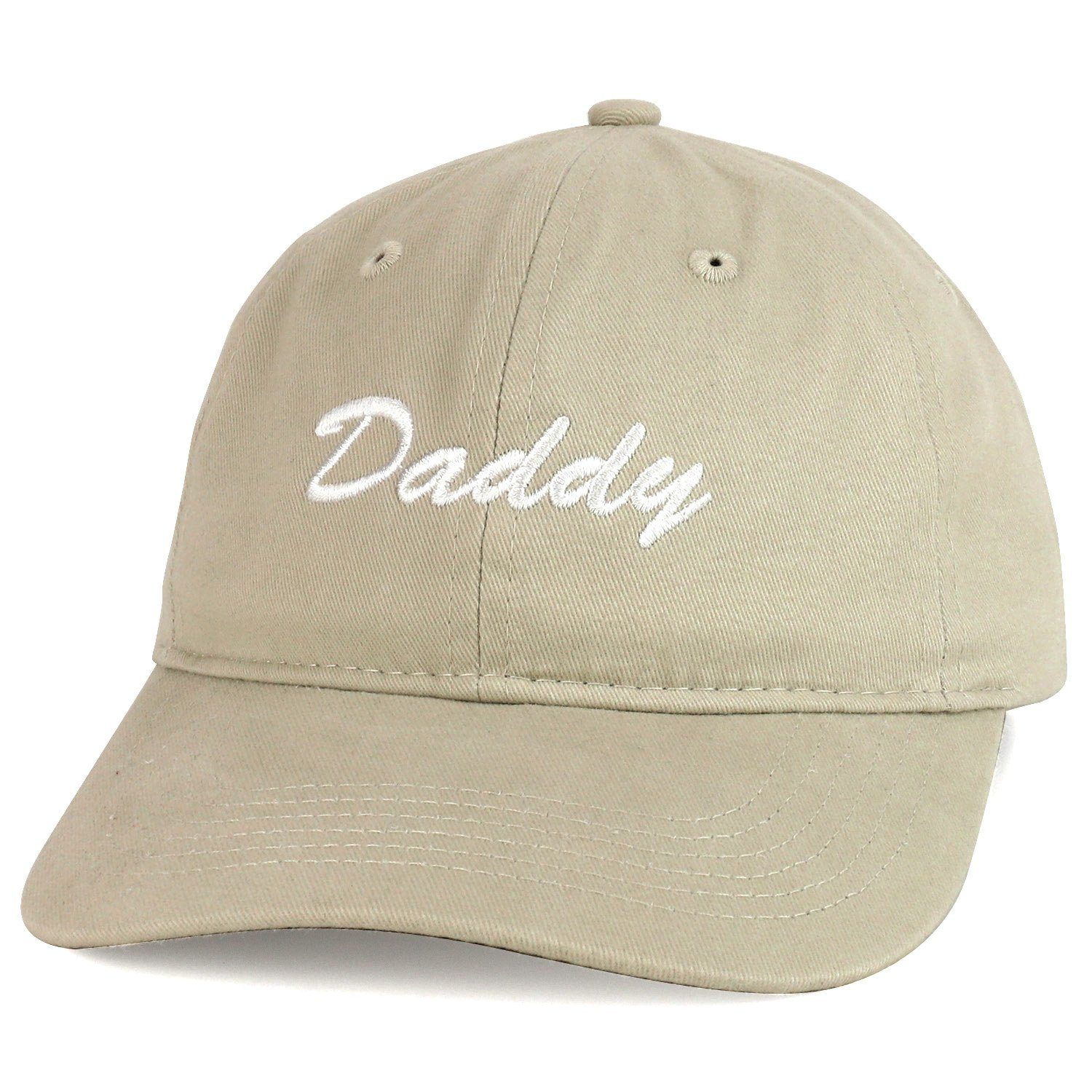 Trendy Apparel Shop Daddy Script Font Embroidered Low Profile Soft Cotton Baseball Cap