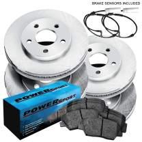 [FRONT+REAR] PowerSport Replacement Brake Rotors Kit and Ceramic Pads BLBC.34068.02