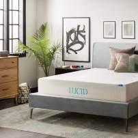 LUCID 12 Inch Gel Memory Foam Mattress - Triple-Layer - Ventilated Gel Foam - CertiPUR-US Certified - 10-Year Warranty - Twin XL