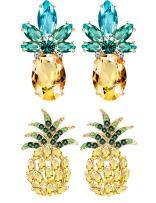 Besteel 2 Pairs Pineapple Stud Earrings for Women Girls Cute Party Fruit Earring Set