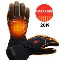 Men Winter Rechargeable Battery Heated Gloves Electric Heat Gloves Kit,3 Heat