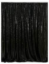 Sparkle Sequin Backdrop 8x8ft Black Glitter Backdrop Birthday Party Photo Booth Background Sequence Backdrop Curtain for Halloween Decoration