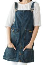 Vantoo Denim Apron with Pockets for Women, Kitchen Chef Apron for Men, Blue