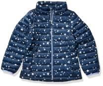 Amazon Essentials Girl's Lightweight Water-Resistant Packable Puffer Jacket