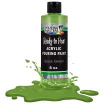Pouring Masters Grass Green Acrylic Ready to Pour Pouring Paint – Premium 8-Ounce Pre-Mixed Water-Based - for Canvas, Wood, Paper, Crafts, Tile, Rocks and More