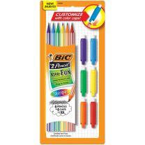 BIC Xtra-Fun Custom Graphite Pencil, 2 HB, 6-Count