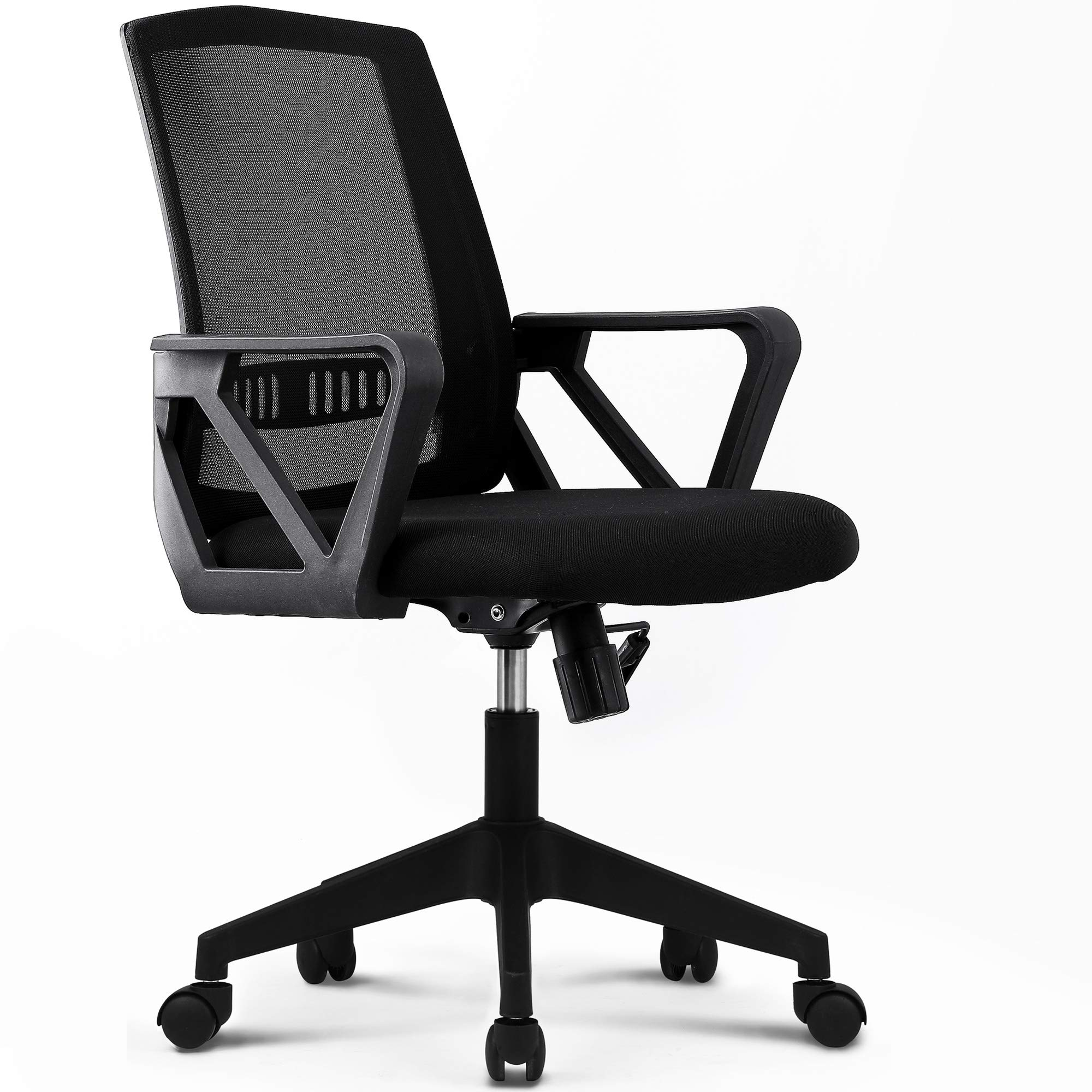 NEO CHAIR Office Chair Computer Desk Chair Gaming - Bulk Business Executive Ergonomic Back Cushion Lumbar Support Chairs Wheels Black Mesh Racing Seat Adjustable Swivel Rolling Diagonal Armrests