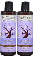 Dr. Woods Pure Lavender Castile Soap with Organic Shea Butter, 32 Ounce (16 oz (Pack of 2))