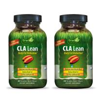 Irwin Naturals CLA Lean Body Fat Reduction High Potency Conjugated Linoleic Acid - Weight Management Supplement & Exercise Enhancement with Safflower & Coconut Oil - 80 Liquid Softgels (Pack of 2)