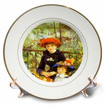 3dRose cp_61854_1 Renoirs Painting on The Terrace Porcelain Plate, 8-Inch