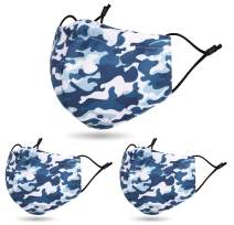 3 PCS Washable Resuable Breathable 2 Layer Cloth Fabric Face Madks, CB
