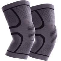 ITHW Knee Compression Sleeves for Women & Men for Meniscus Tear, Arthritis, ACL, MCL, Running, Working out, Gym, Injury Recovery, Sports Knee Brace 2 Pack (Black XXL)