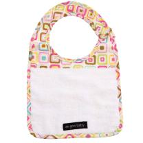 Ah Goo Baby Bib, 100% Cotton Terry Cloth, Wrap Around Collar, Gumdrop Pattern