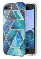 i-Blason Cosmo Lite Series Designed for iPhone SE 2020 Case/iPhone 7 Case/iPhone 8 Case, Slim Stylish Protective Bumper Case for iPhone SE (2020)/ iPhone 8/ iPhone 7 (Blue)