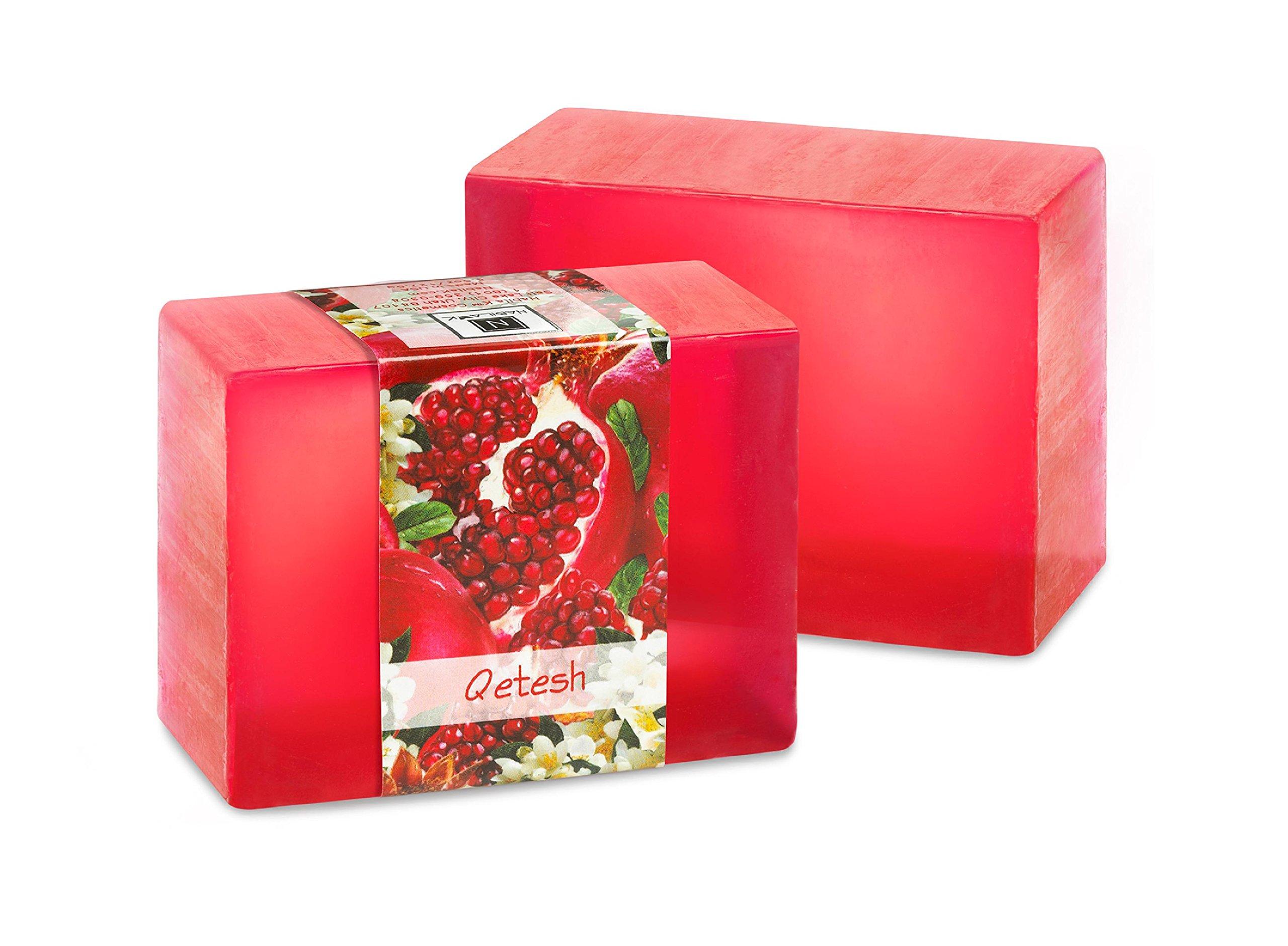 N Nabila K Vegetable Glycerin Bar Soap, Qetesh, Single Bar, 4.5oz/127.5g each