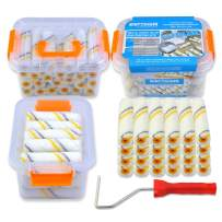 Kingorigin 26 Piece Painters Selected,Paint Roller Covers 4 inch Paint Brush Wall Paint Brushes 4 inch Mini Paint Roller Set Paint Bucket Tool kit Tool Box